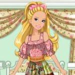 Jeu Barbie's Patchwork Peasant Dress