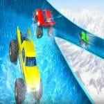 Crazy Monster Truck Water Slide Game