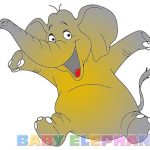 Baby Elephant Coloring