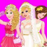 Jeu Barbie's Wedding Selfie With Princesses
