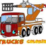 Funny Trucks Coloring