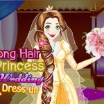 Jeu Long Hair Princess Wedding Dress up