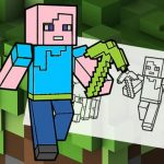 Jeu Minecraft Fun Coloring Book
