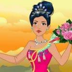 Jeu Native American Princess Wedding Dress up