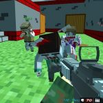 Shooting Zombie Blocky Gun Warfare