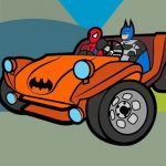 Superhero Cars Coloring Book