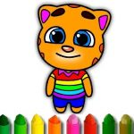 Talking Tom Coloring Book