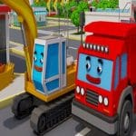 Jeu Trucks and Digger Jigsaw